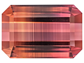 Bi-Color Tourmaline 13.42x8.92mm Emerald Cut 8.40ct