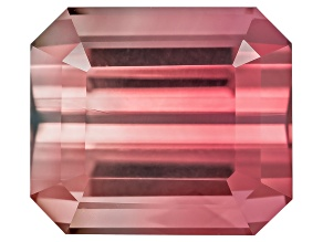 Bi-Color Tourmaline 14.27x6.82mm Rectangular Octagonal Quantum Cut 4.69ct
