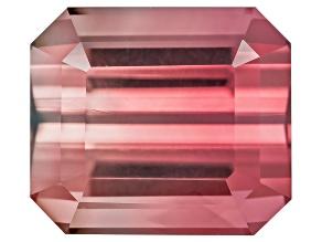 Bi-Color Tourmaline 14.27x6.82mm Rectangular Octagonal Step Cut 4.69ct