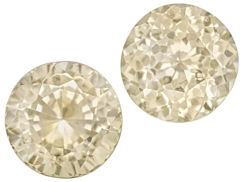 Yellow Sapphire Round Matched Pair 1.76ctw