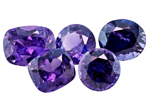 Purple Sapphire Mixed Shape Set 4.03ctw