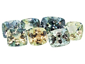 Multi-Color Sapphire Mixed Shape Set 4.89ctw