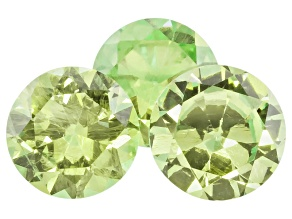 Garnet Demantoid 3.2mm To 3.4mm Round Set .47ctw
