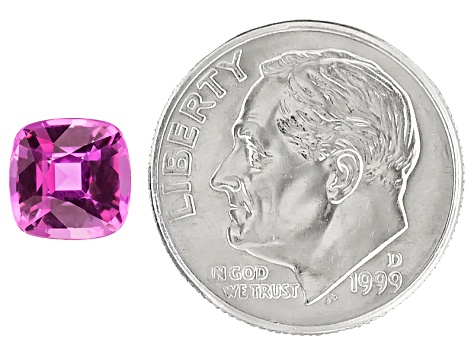 Pink Sapphire 7mm Square Cushion 1.71ct