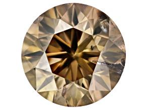 Champagne Diamond 5.5mm Round Brilliant 0.71ct