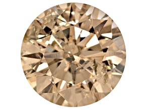 Light Yellow Diamond Round Brilliant Cut .25ct