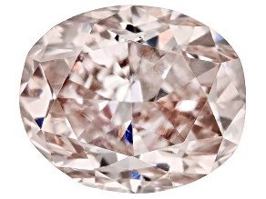 Fancy Brownish Pink Diamond Oval Brilliant Cut .24ct