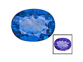 Blue Fluorite Color Change 16x12mm Oval 10.00ct
