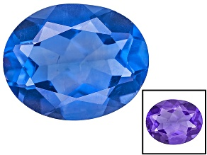 Blue Color Change Fluorite 3.75ct 11x9mm Oval