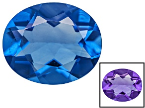 Blue Color Change Fluorite 4.75ct 12x10mm Oval