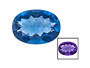 Blue Fluorite Color Change 14x10mm Oval 5.50ct