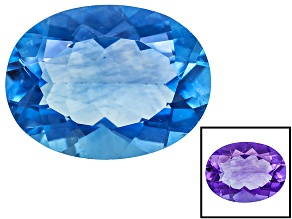 Blue Color Change Fluorite 9.20ct 14x12mm Oval