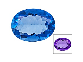 Blue Fluorite Color Change 16x12mm Oval 9.50ct