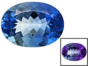 Blue Color Change Fluorite 21.75ct 22x16mm Oval