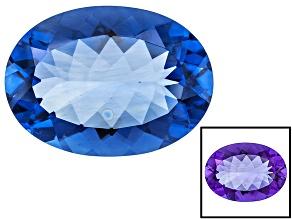 Blue Color Change Fluorite 32.00ct 25x18mm Oval