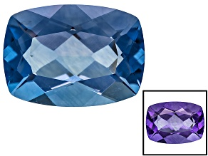 Blue Color Change Fluorite 16.50ct 18x13mm Rectangular Cushion
