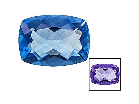 Blue Color Change Fluorite 13.25ct 18x13mm Rectangular Cushion