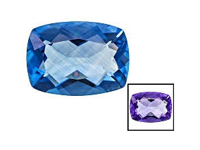 Blue Fluorite Color Change 18x13mm Rectangular Cushion 13.25ct