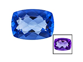 Blue Fluorite Color Change 18x13mm Rectangular Cushion 14.00ct