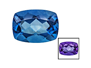 Blue Fluorite Color Change 18x13mm Rectangular Cushion 17.00ct