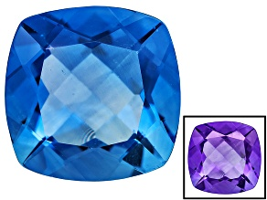 Blue Color Change Fluorite 8.00ct 12mm Square Cushion