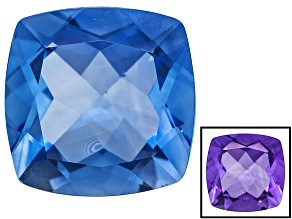 Blue Color Change Fluorite 12.00ct 14mm Square Cushion