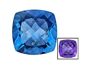 Blue Color Change Fluorite 11.25ct 14mm Square Cushion