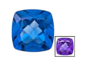 Blue Fluorite Color Change 14mm Square Cushion 14.00ct