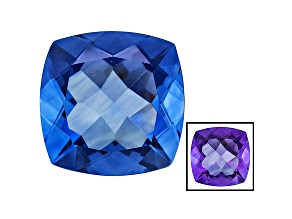Blue Color Change Fluorite 19.50ct 16mm Square Cushion