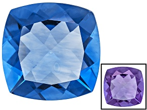 Blue Color Change Fluorite 16.75ct 16mm Square Cushion