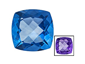Blue Fluorite Color Change 16mm Square Cushion 18.00ct