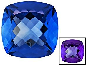 Blue Color Change Fluorite 26.25ct 18mm Square Cushion