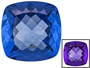 Blue Fluorite Color Change 20mm Square Cushion 37.00ct