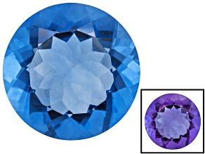 Blue Color Change Fluorite 15.25ct 16mm Round