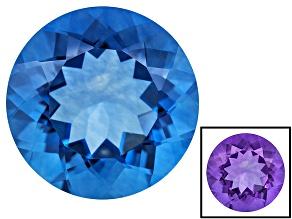 Blue Color Change Fluorite 16.00ct 16mm Round