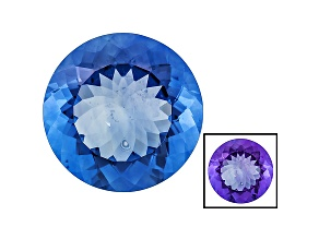 Blue Fluorite Color Change 18mm Round 22.25ct