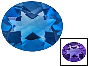 Blue Color Change Fluorite 3.25ct 11x9mm Oval