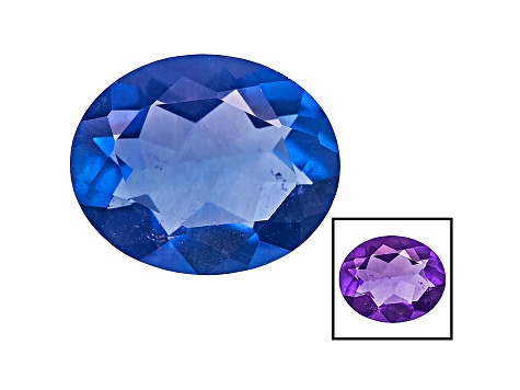Blue Color Change Fluorite 3.50ct 11x9mm Oval