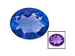 Blue Fluorite Color Change 11x9mm Oval 3.50ct