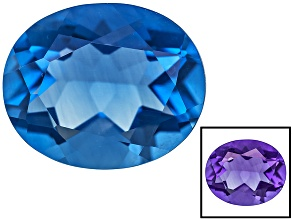 Blue Color Change Fluorite 4.00ct 11x9mm Oval