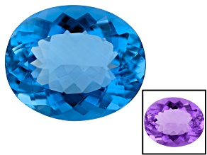 Color Change Blue Fluorite 24x20mm Oval 37.88ct