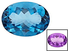 Color Change Blue Fluorite 22x16mm Oval 25.26ct