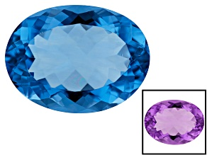 Color Change Blue Fluorite 19.4x14.5mm Oval 17.73ct