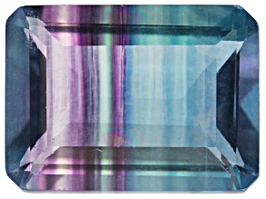 Bi-Color Fluorite 15x11mm Emerald Cut 11.00ct