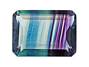 Bi-Color Fluorite 18x13mm Emerald Cut 16.75ct
