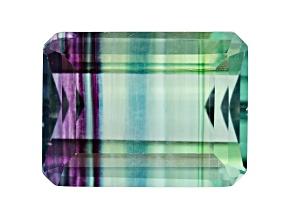 Bi-Color Fluorite 20x15mm Emerald Cut 30.00ct