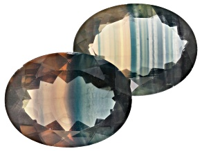 Banded Fluorite 20x15mm Oval Set of 2 35.00ct