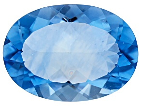 Blue Fluorite Color Change 25x18mm Oval 31.41ct