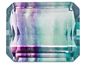 Bi-Color Fluorite 12x10mm Emerald Cut 7.00ct