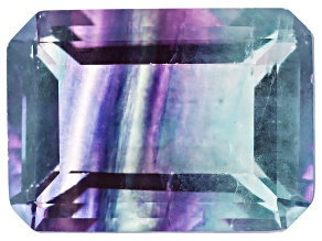 Bi-Color Fluorite 15x11mm Emerald Cut 10.75ct